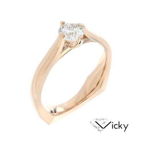 """""""Vicky"""" pierścionek z diamentem z różowego złota"""