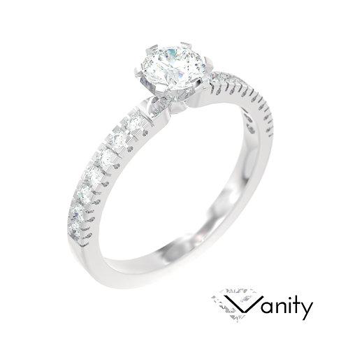 """""""Vanity"""" pierścionek z diamentami z platyny"""