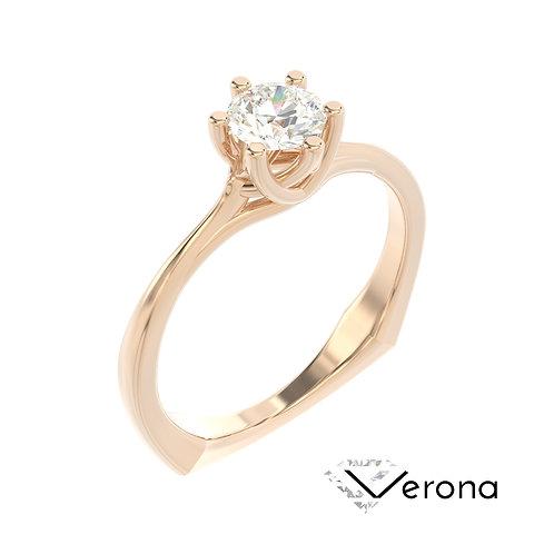 """""""Verona"""" pierścionek z diamentem z różowego złota"""