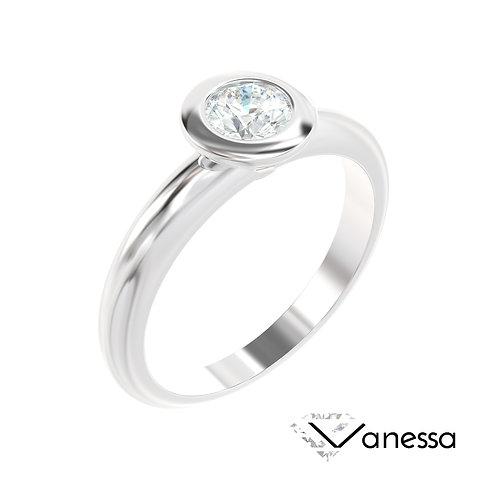 """""""Vanessa"""" pierścionek z diamentem z platyny"""