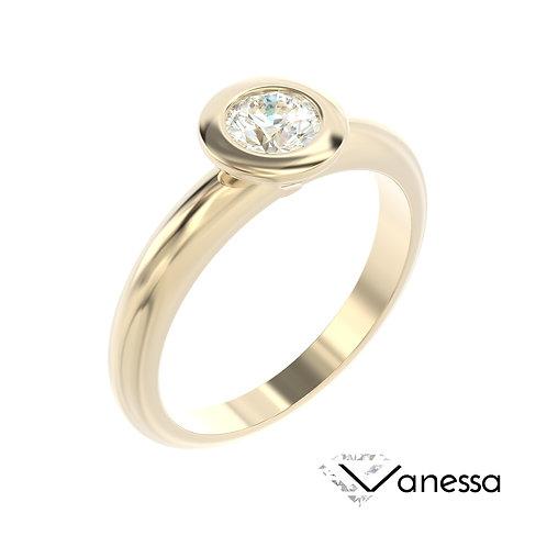 """""""Vanessa"""" pierścionek z diamentem z żółtego złota"""
