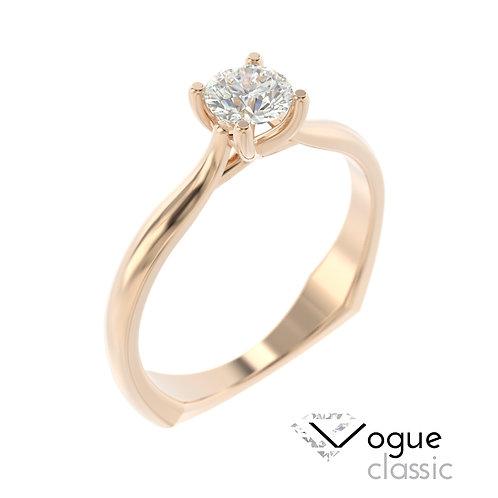"""""""Vogue Classic"""" pierścionek z diamentem z różowego złota"""