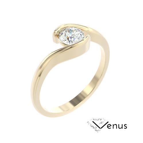 """""""Venus"""" pierścionek z diamentem z żółtego złota"""