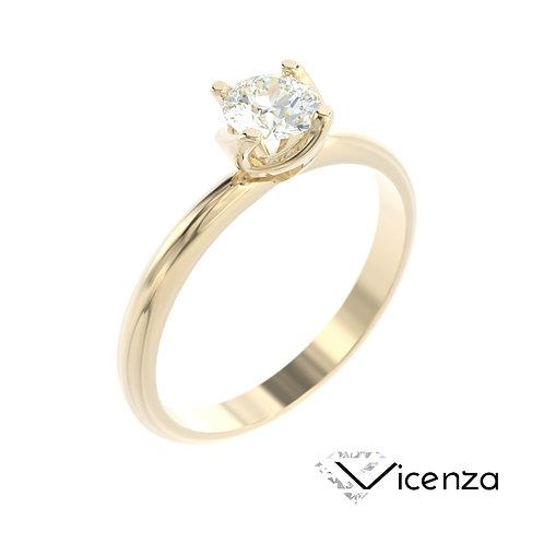 """""""Vicenza"""" pierścionek z diamentem z żółtego złota"""