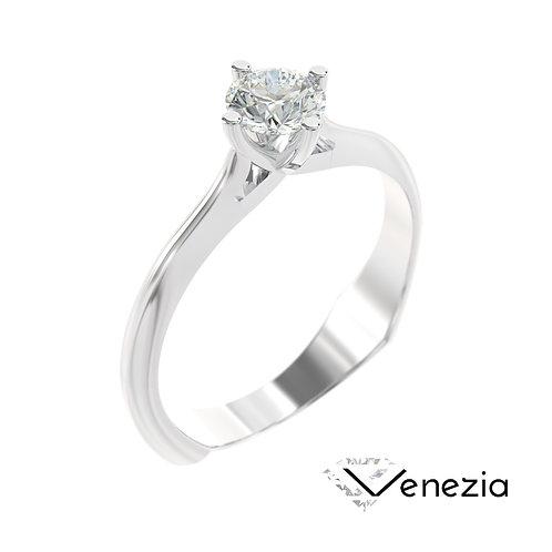 """""""Venezia"""" pierścionek z diamentem z białego złota"""