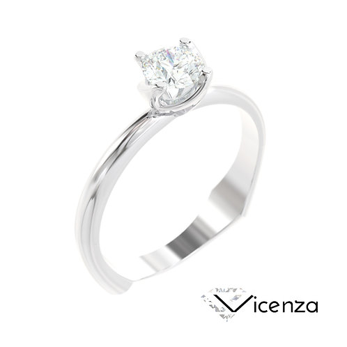 """""""Vicenza"""" pierścionek z diamentem z białego złota"""