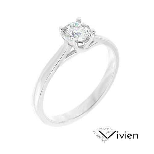"""""""Vivien"""" pierścionek z diamentem z platyny"""