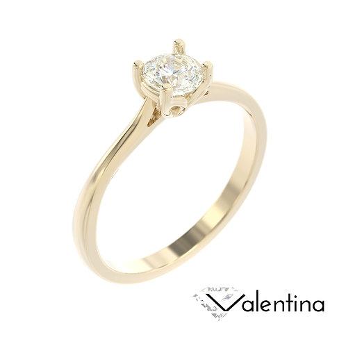 """""""Valentina"""" pierścionek z diamentem z żółtego złota"""