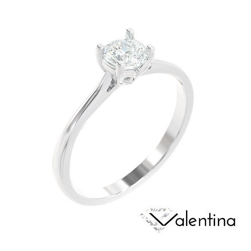 """""""Valentina"""" pierścionek z diamentem z platyny"""
