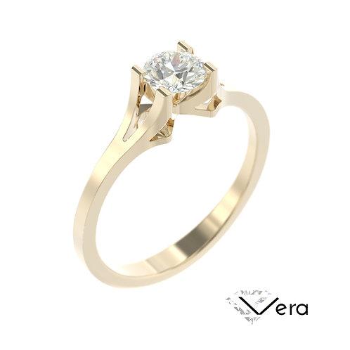 """""""Vera"""" pierścionek z diamentem z żółtego złota"""