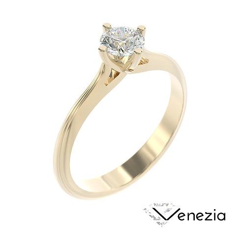 """""""Venezia"""" pierścionek z diamentem z żółtego złota"""