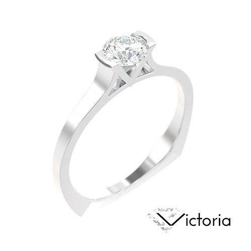 """""""Victoria"""" pierścionek z diamentem z białego złota"""