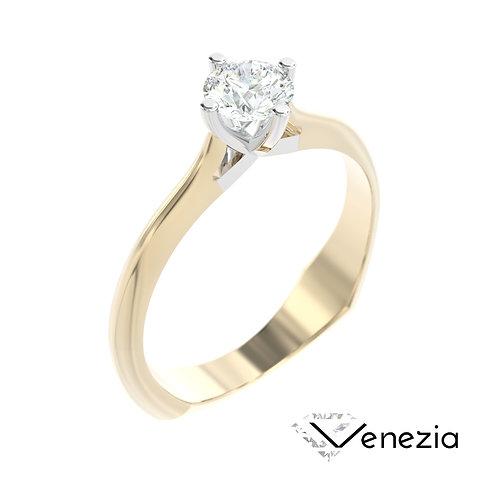 """""""Venezia"""" pierścionek z diamentem z żółtego i białego złota"""