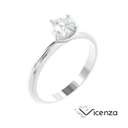 """""""Vicenza"""" pierścionek z diamentem z platyny"""
