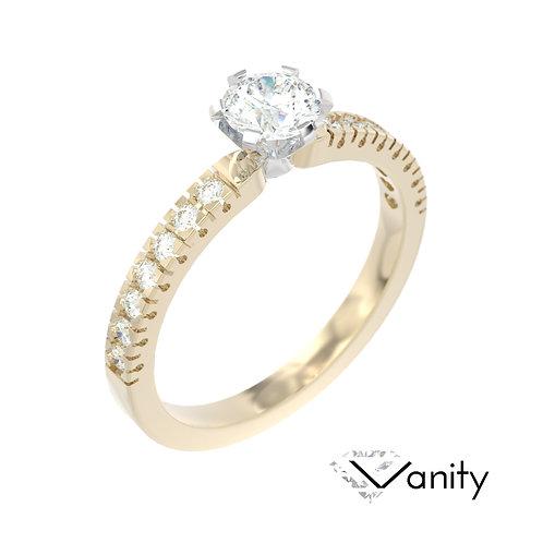 """""""Vanity"""" pierścionek z diamentem z żółtego i białego złota"""