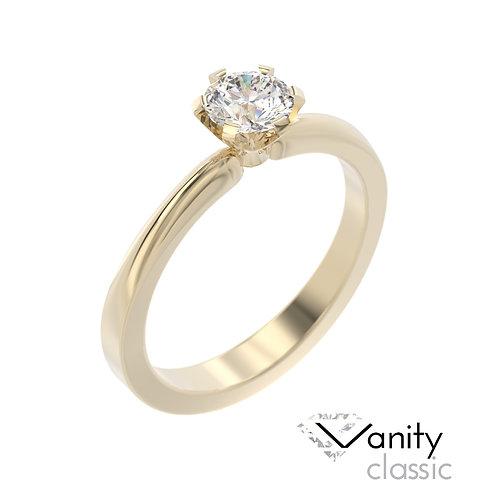 """""""Vanity Classic"""" pierścionek z diamentem z żółtego złota"""