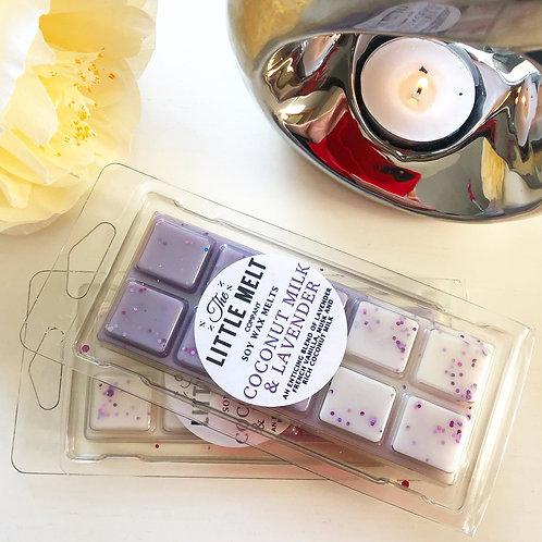 Coconut Milk & Lavender Wax Snap Bar