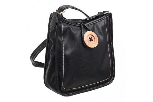 Bessie Retro Button Crossbody Bag