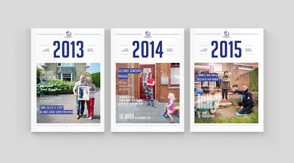 OCMW jaarverslagen covers