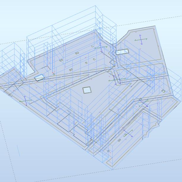 Fairgreen Student Residence, Podium Slab Model