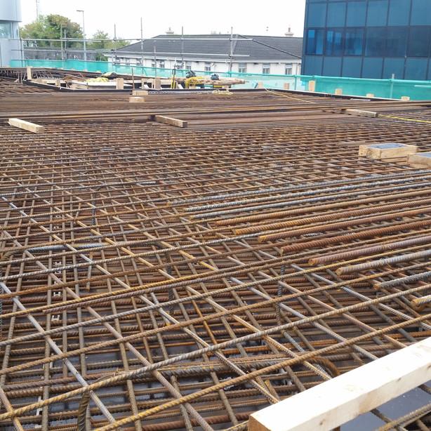 Podium Slab, 180 tonnes Fixed Reinforcement