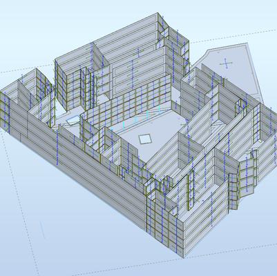 Fairgreen Student Residence, Superstructure Loading Model