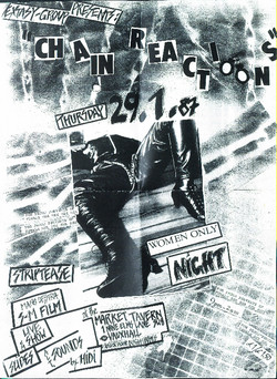 Poster from first Chain Reaction night