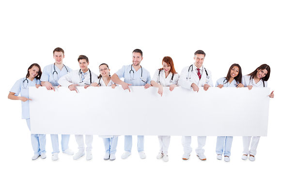 A group of young and friendly physicians