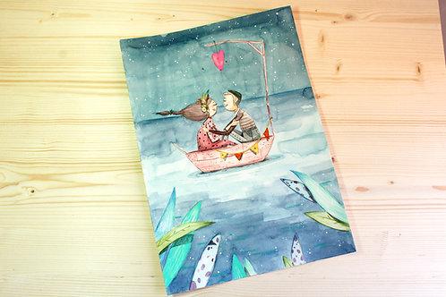 Un bote y un farolillo basta