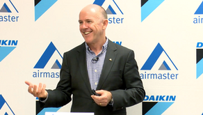 Airmaster CEO Noel Courtney speaks at Schneider Electric conference in Hong Kong