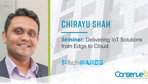 Conserve It's Chirayu Shah to present at ARBS 2018