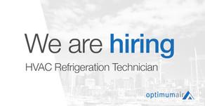 Position Available: HVAC Refrigeration Technician