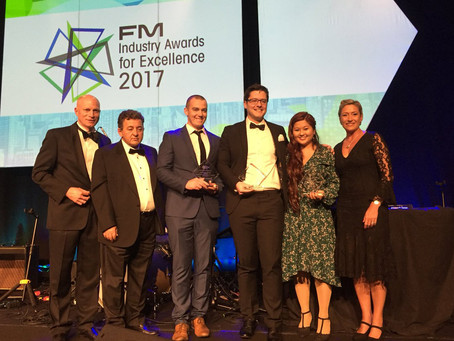Airmaster, BUENO and Knight Frank receive Collaborative Partnership Award at FM Industry Awards