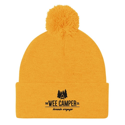 Pom-Pom Beanie (Gold or Grey)