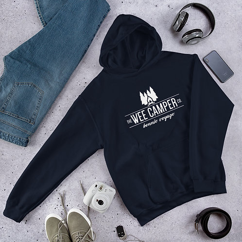 Unisex Hoodie with White Logo