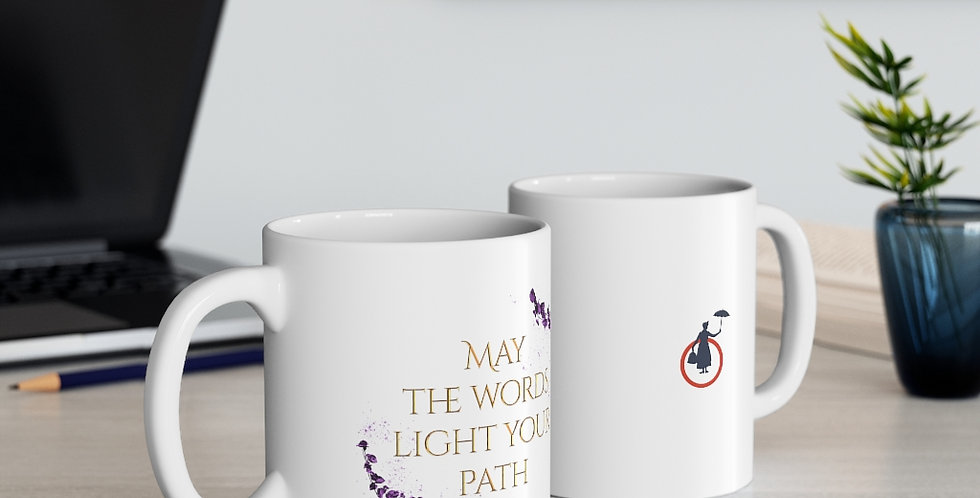 Mug - Unwritten / May the words light your path - Author Collection