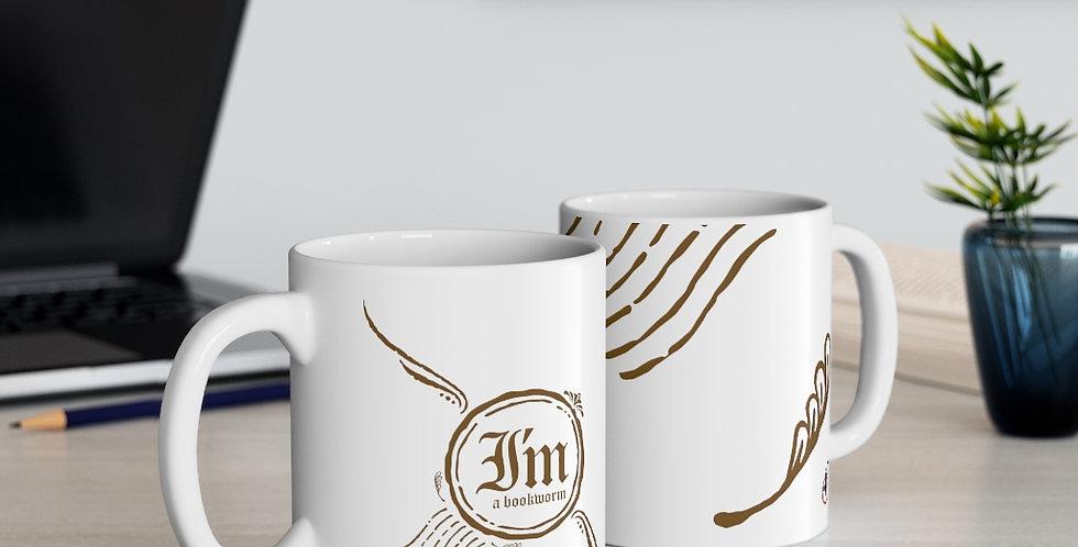 Mug - Bookworm (White) - Carrousel Collection