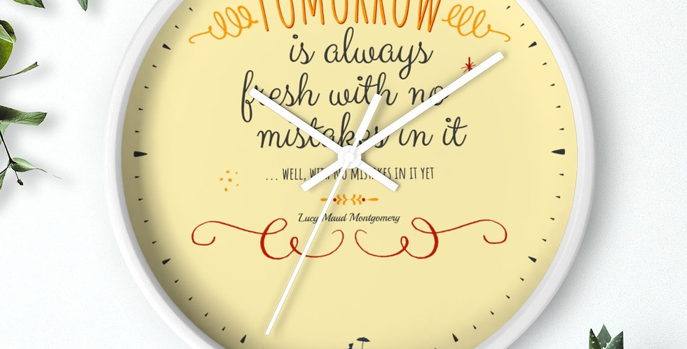 Wall clock - Oh my Montgomery - Carrousel Collection