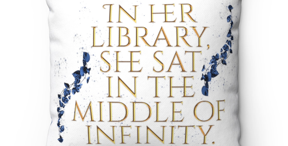 Square Pillow - Unwritten / In her library - Authors Collection