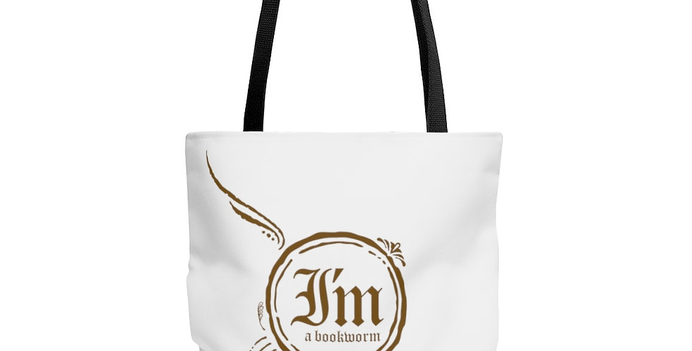 Tote Bag - Bookworm (White) - Carrousel Collection