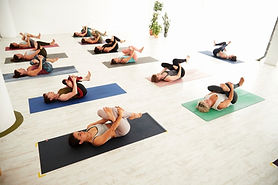Corporate yoga and wellbeing event