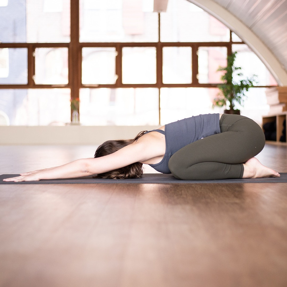 Yoga pose for back pain