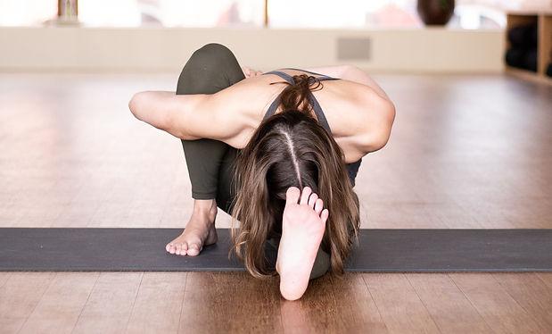 Group yoga workshop