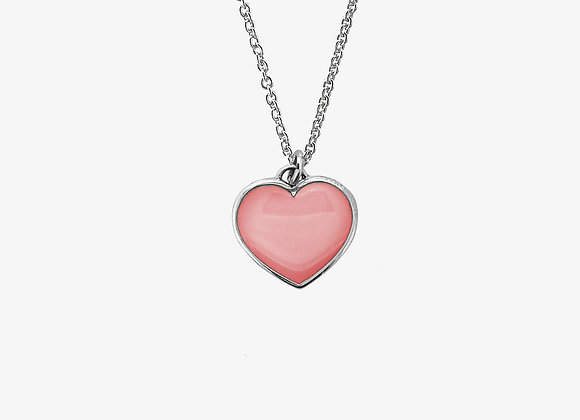 Ciondolo cuore rosa pastello