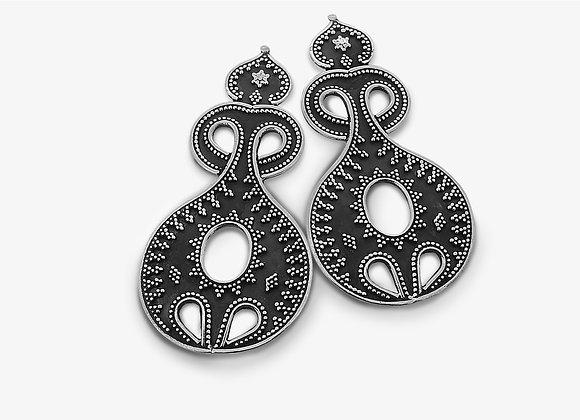Orecchini etnici a goccia - Ethnic drop earrings - Mama Schwaz Gioielli in Argento Milano