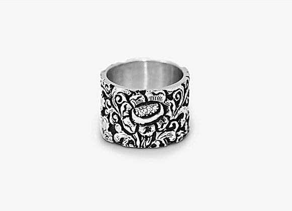 Anello floreale a fascia - Floral Band Ring by Mama Schwaz Milano