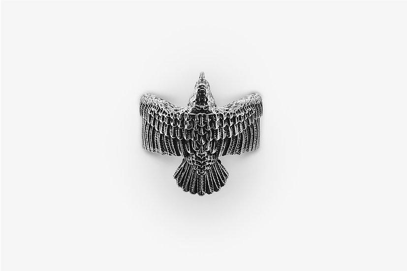 Anello Aquila Argento