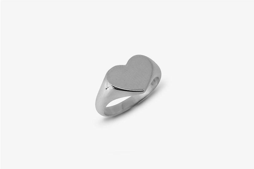 Anello cuore liscio - Heart ring - Mama Schwaz Milano