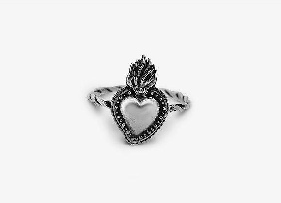 Fedina Intrecciata con Cuore Sacro - Sacred Heart Ring - Mama Schwaz Milano