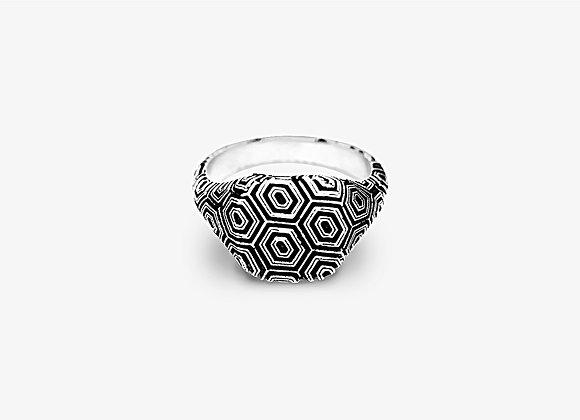 Anello texture geometrica - Geometric Ring by Mama Schwaz Milano